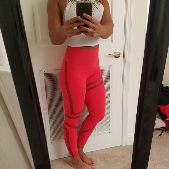 e9d969fe2000be Reebok Pants | Nwt Rebok Linear Highrise Leggings | Poshmark